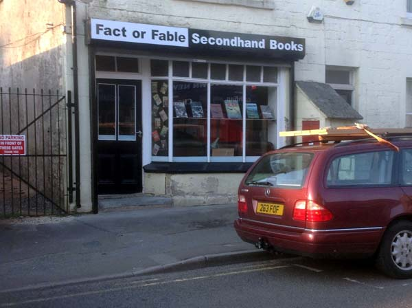 Fact or Fable Second Hand Book Shop: Shop Front Photo